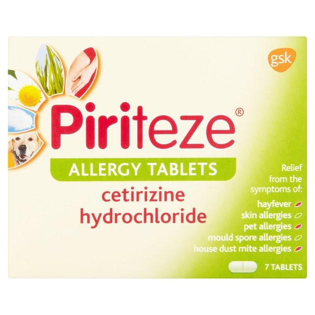 Piriteze Allergy Tablets One A Day