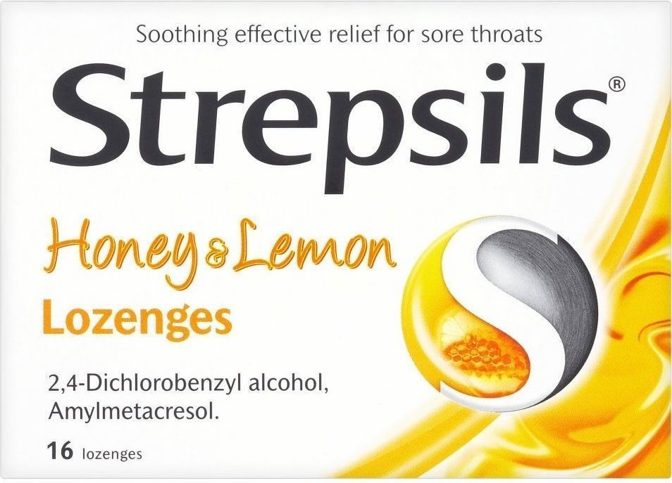 Strepsils Honey And Lemon Lozenges 16 Lozenges